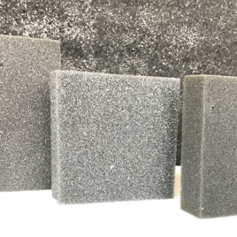 Polyurethane foam is available in block form or convoluted. Ideal for vibration dampening or soft spring applications